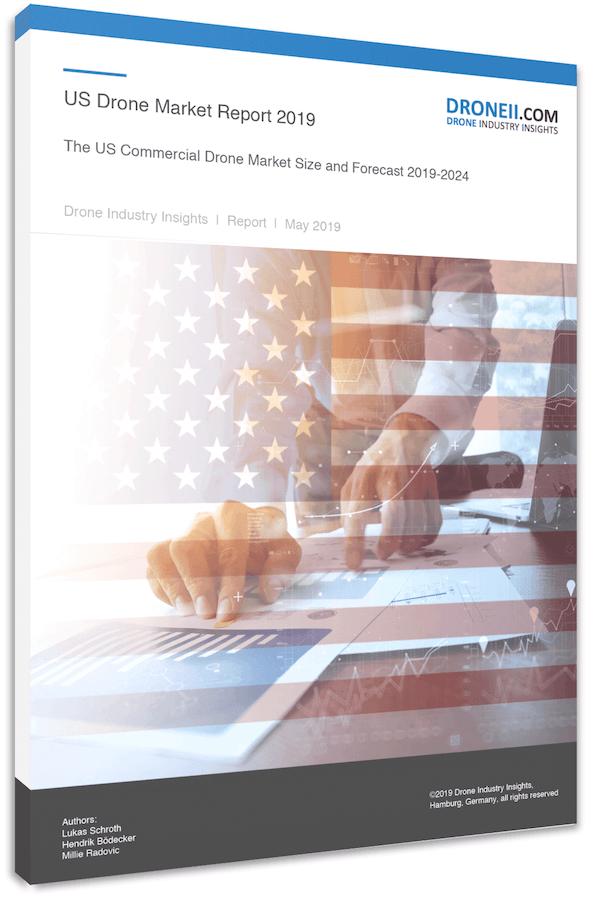 US Drone Market Report - Title Portrait 3D Shadow
