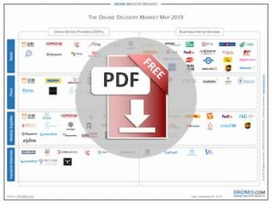 Drone Delivery Market Map Infographic Download Icon