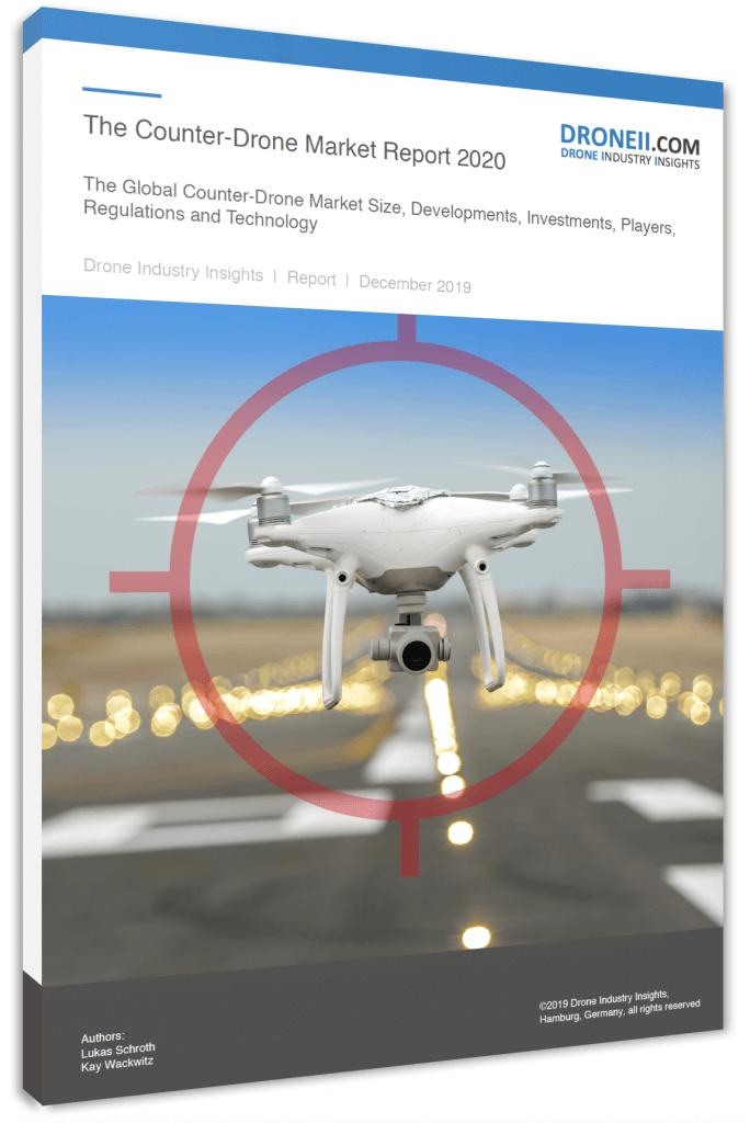 Counter-Drone Market Report Title Page Portrait 3D Shadow