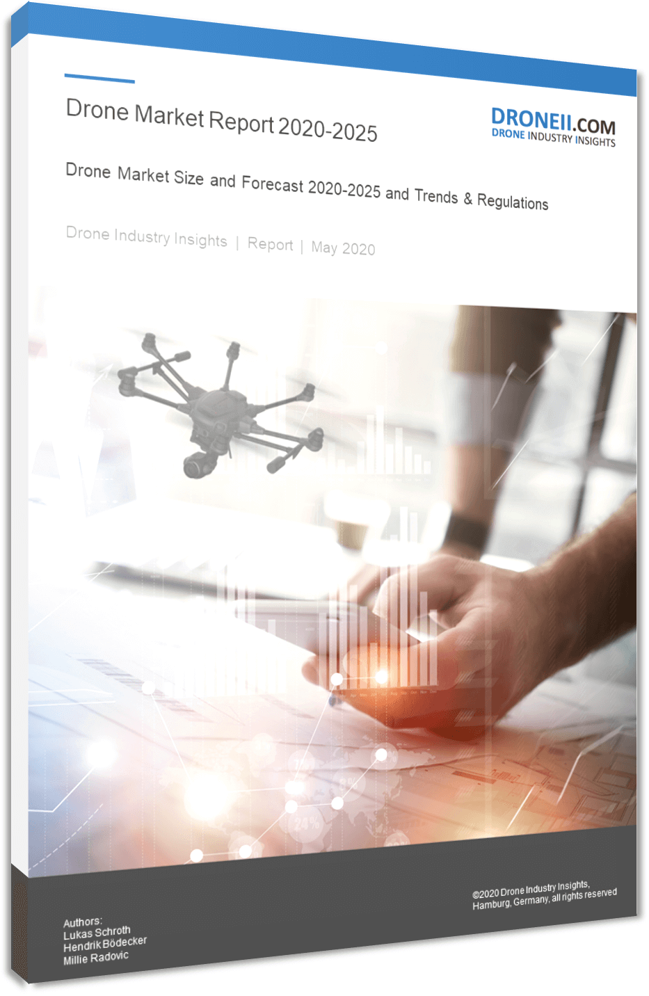 Drone Market Report Title Picture 3D Shadow